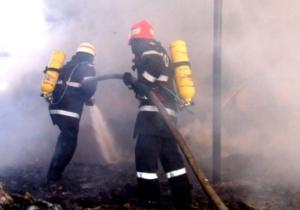 Grajd făcut scrum în incendiu, la Mercheașa