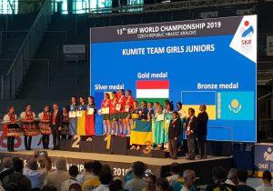 România câștigă argintul la Kumite, cu trei junioare din Făgăraș, Victoria și București