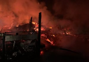 FOTO | Incendiu devastator în Homorod