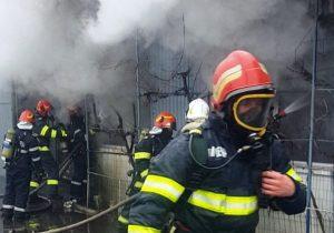 Incendiu la fabrica Sergiana