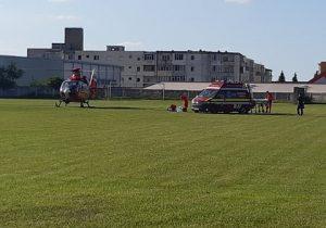 Turist rănit pe munte, transportat cu elicopterul SMURD în Orașul Victoria